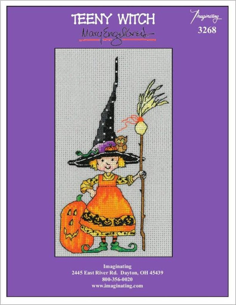 TEeny Witch Cross Stitch Pattern by Imaginating