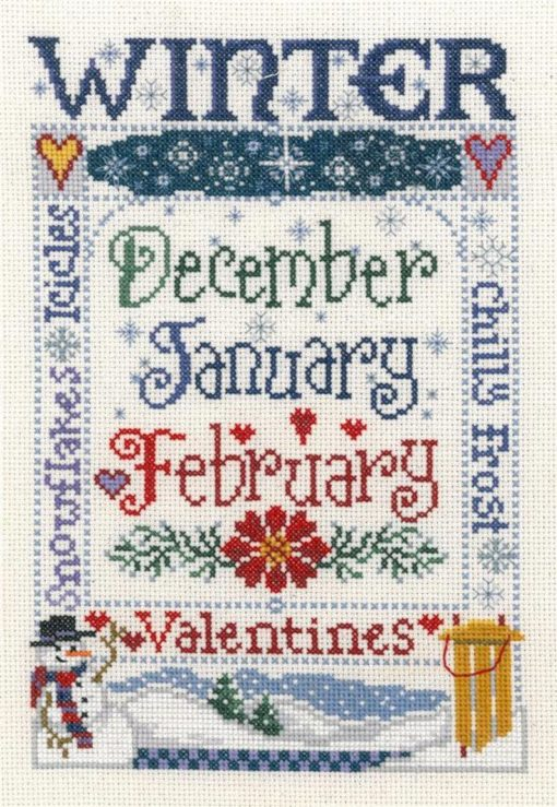 WINTER SEASON Cross Stitch Kit by Imaginating