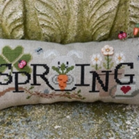 When I THINK OF SPRING Cross Stitch Pattern by Puntini Puntini