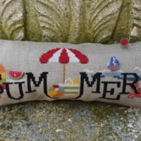 When I THINK OF SUMMER Cross Stitch Pattern by Puntini Puntini