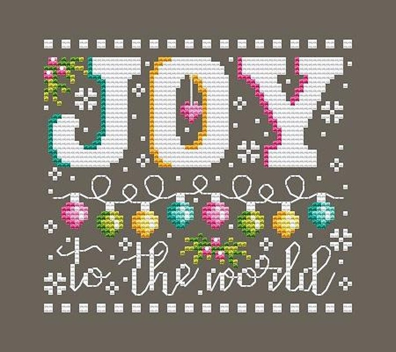 Shannon Christine JOY TO THE WORLD Cross Stitch Pattern