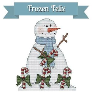 StitchX Craft FROZEN FELIX Cross Stitch Pattern – Snowman Cross Stitch