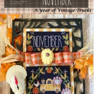 Stitching With The Housewives TRUCKIN' ALONG NOVEMBER Cross Stitch