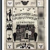 Tiny Modernist Halloween Ouija Cross Stitch Pattern Series #5
