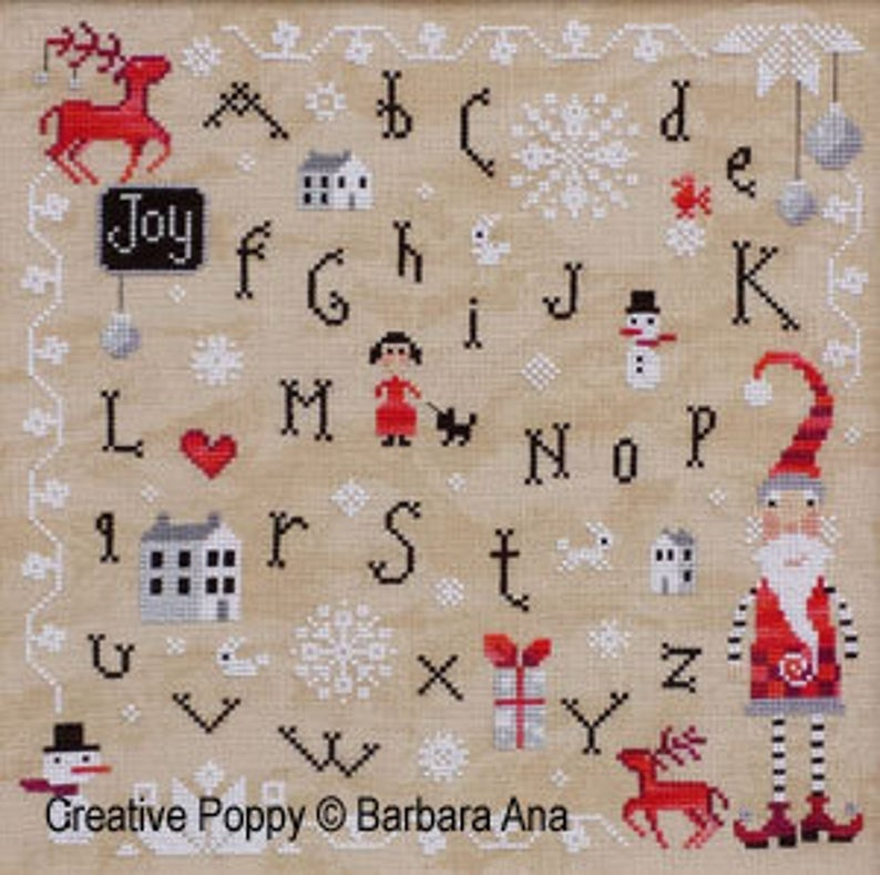 Barbara Ana Designs CHRISTMAS JOY Cross Stitch Pattern