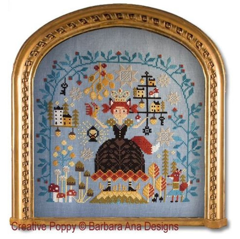 Barbara Ana Designs FOREST QUEEN Cross Stitch Pattern