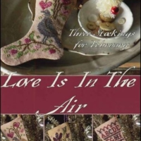 Blackbird Designs February LOVE IS In The AIR Cross Stitch Pattern