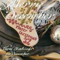 Blackbird Designs MERRY CHRISTMAS Cross Stitch Pattern