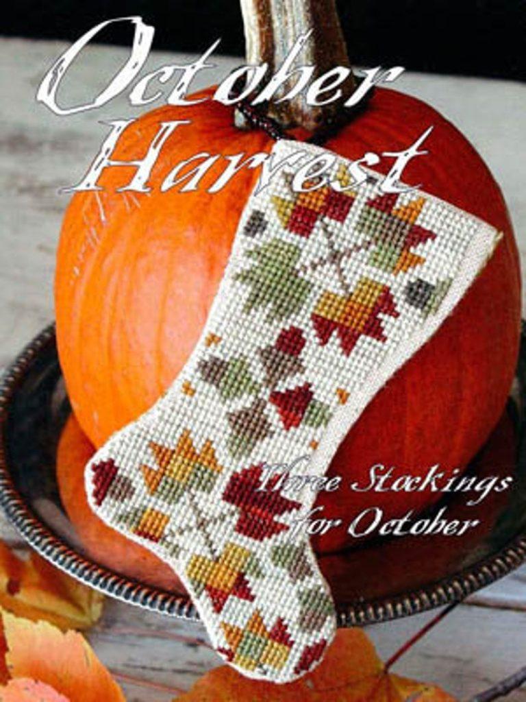 Blackbird Designs OCTOBER HARVEST Cross Stitch Pattern