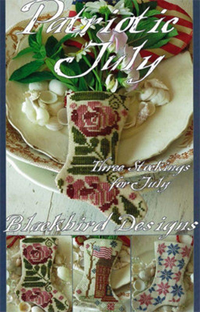 Blackbird Designs PATRIOTIC JULY Cross Stitch Pattern