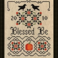 Plum Pudding NeedleArt BLESSED BE Cross Stitch Pattern