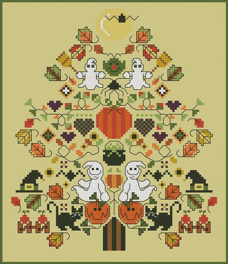 Carolyn Manning Designs SPOOKY SPRUCE Cross Stitch Pattern