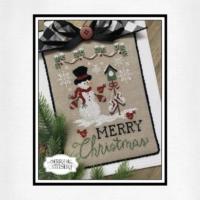 Cherry Hill Stitchery Cross Stitch Pattern Christmas MERRY CHRISTMAS – PDF Cross Stitch Pattern