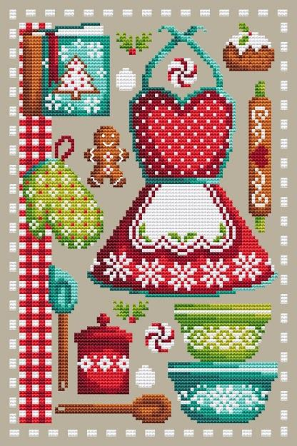 Shannon Christine CHRISTMAS BAKING Cross Stitch Pattern