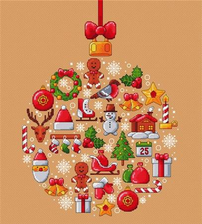 Les Petites Croix de Lucie CHRISTMAS BALL Cross Stitch Pattern