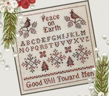 Plum Pudding NeedleArt CHRISTMAS IN RED Cross Stitch Pattern