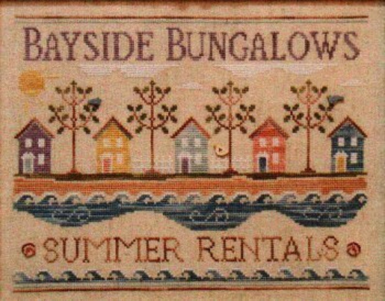 Country Cottage Needleworks BAYSIDE BUNGALOWS Cross Stitch Pattern