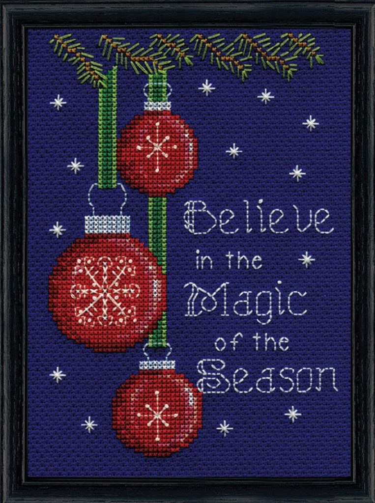 "Design Works BELIEVE Cross Stitch Kit 5""x7"""