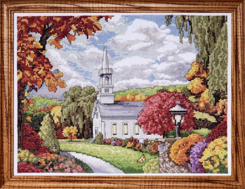 "Design Works FALL INSPIRATION Cross Stitch Kit 9""x12"""
