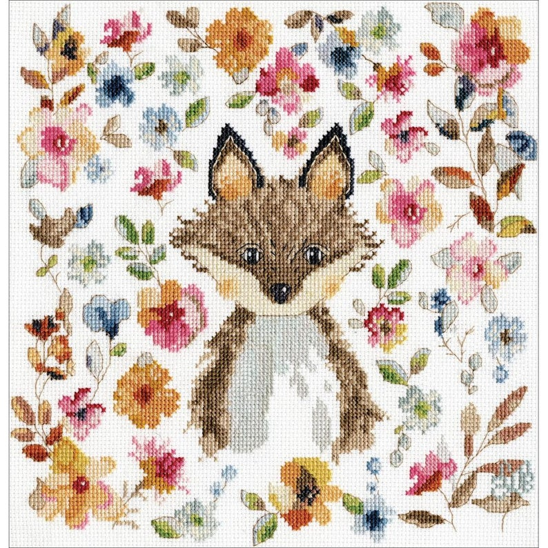 Design Works FOX Cross Stitch Kit