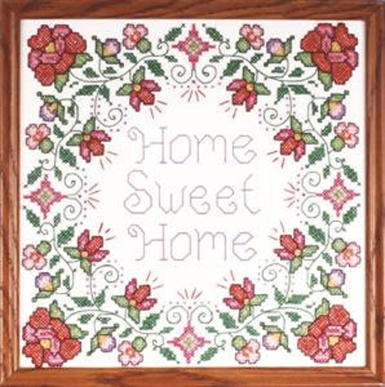 Design Works HOME SWEET HOME Stamped Cross Stitch Kit