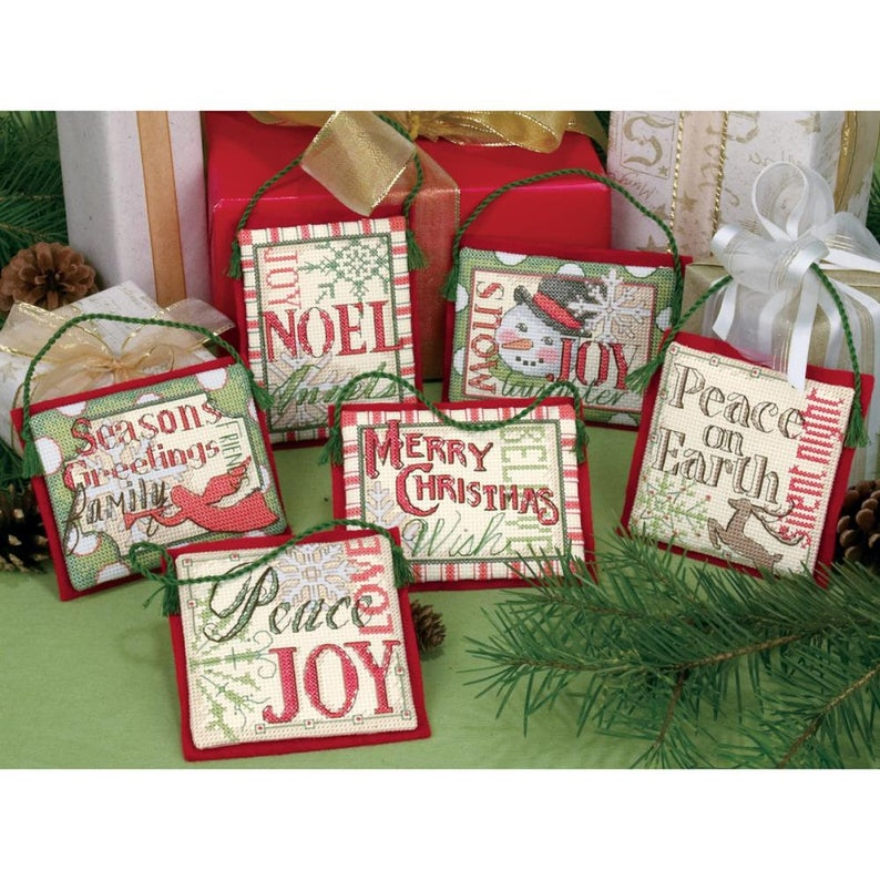Dimensions CHRISTMAS SAYINGS ORNAMENTS Cross Stitch Kit