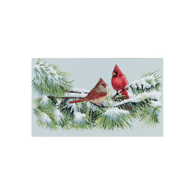 """Dimensions WINTER CARDINAL Counted Cross Stitch Kit 15""""X9"""""""