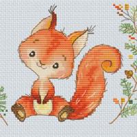 Les Petites Croix De Lucie FOREST SQUIRREL Cross Stitch Pattern