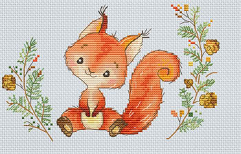 Les Petites Croix De Lucie FOREST SQUIRREL Cross Stitch Pattern