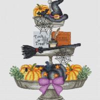 Les Petites Croix De Lucie HALLOWEEN TRAY Cross Stitch Pattern  – PRE-ORDER