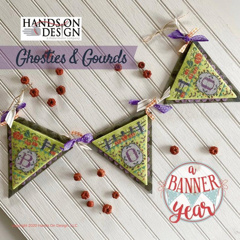 Hands on Design GHOSTIES & GOURDS Cross Stitch Pattern