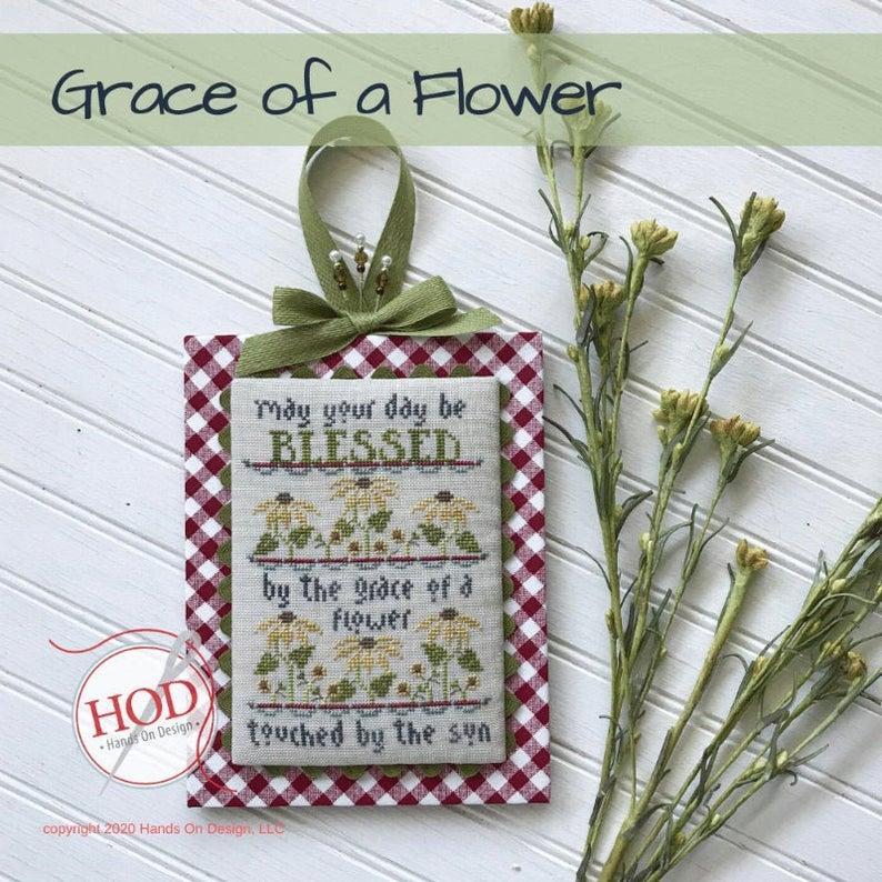 Hands on Design GRACE Of A FLOWER Cross Stitch Pattern