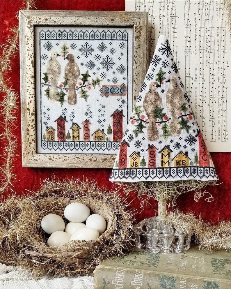 Hello From Liz Matthews SECOND DAY of CHRISTMAS Cross Stitch Pattern