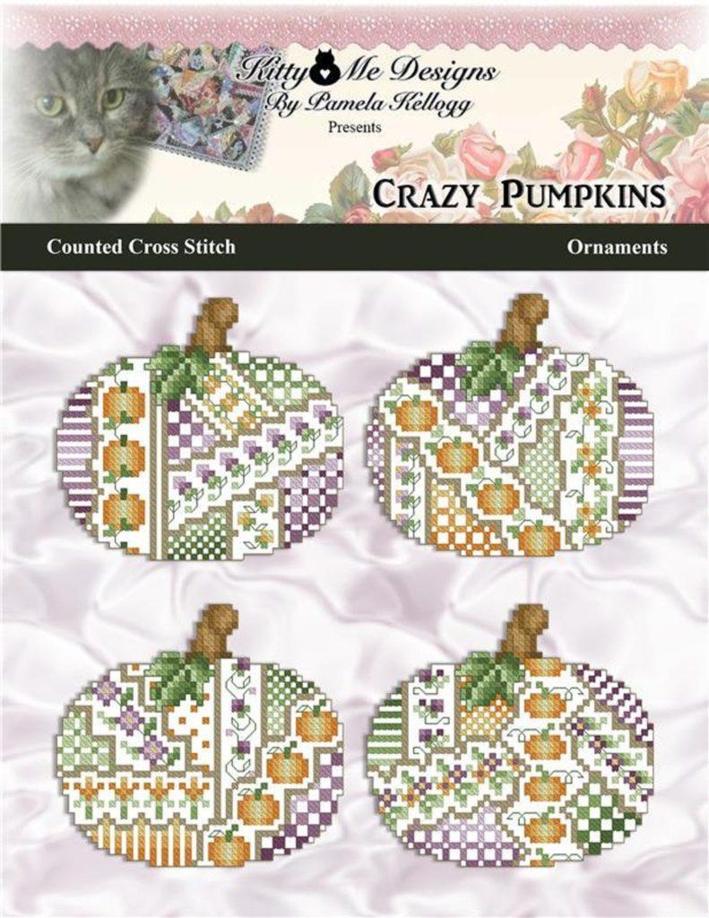 Kitty & Me Designs Crazy Pumpkins Cross Stitch Pattern