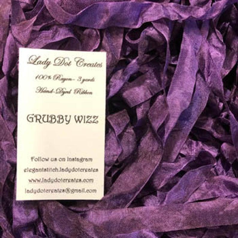 Lady Dot Creates GRUBBY WIZZ RAYON Ribbon 3 Yards