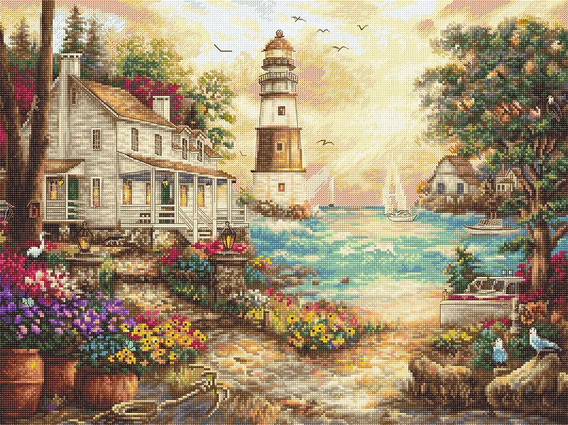 COTTAGE BY The SEA Cross Stitch Kit by Letistitch