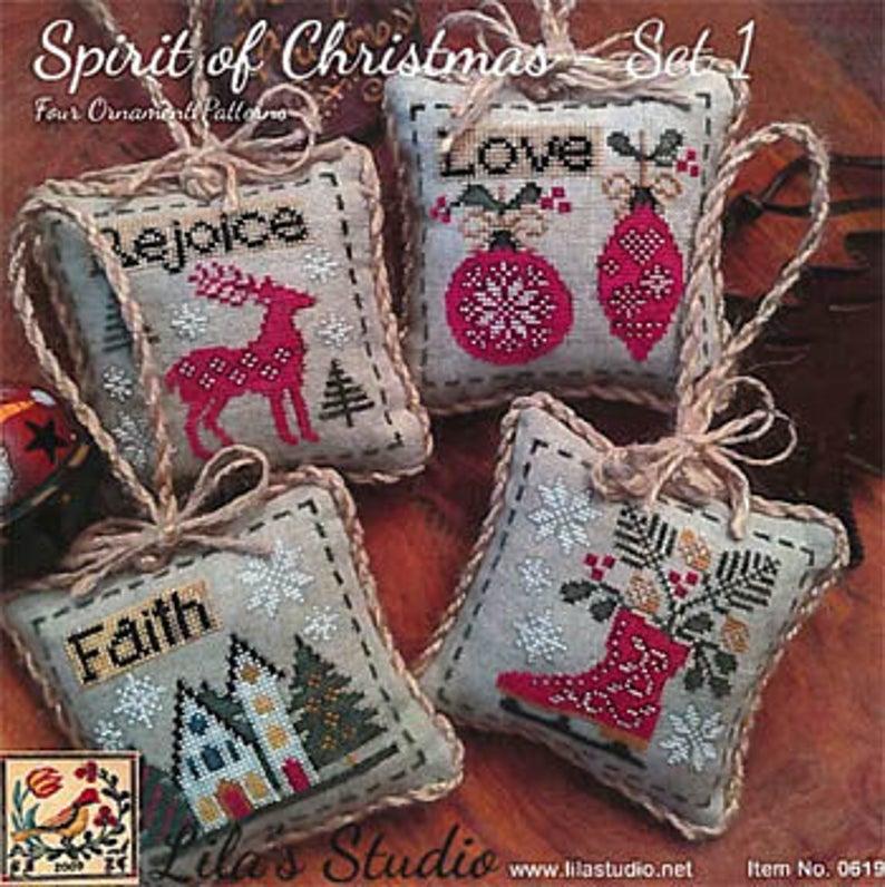 Lila's Studio SPIRIT OF CHRISTMAS Set 1 Cross Stitch Pattern