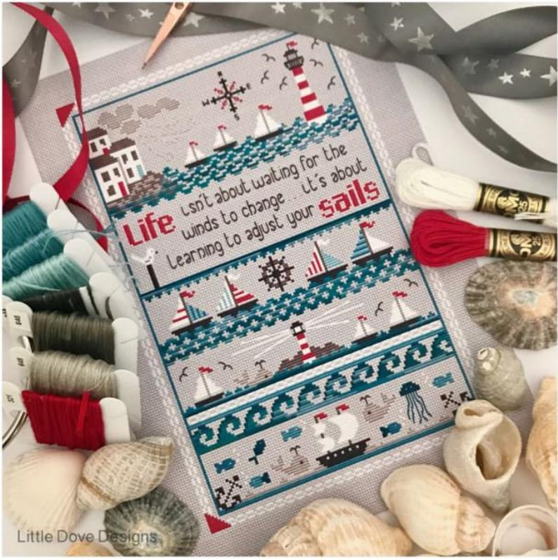 Little Dove Designs ~ADJUST YOUR SAILS Cross Stitch Pattern