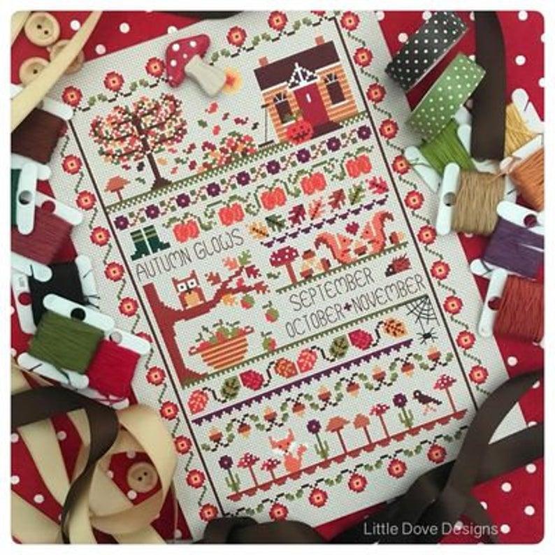 Little Dove Designs ~AUTUMN GLOWS Cross Stitch Pattern