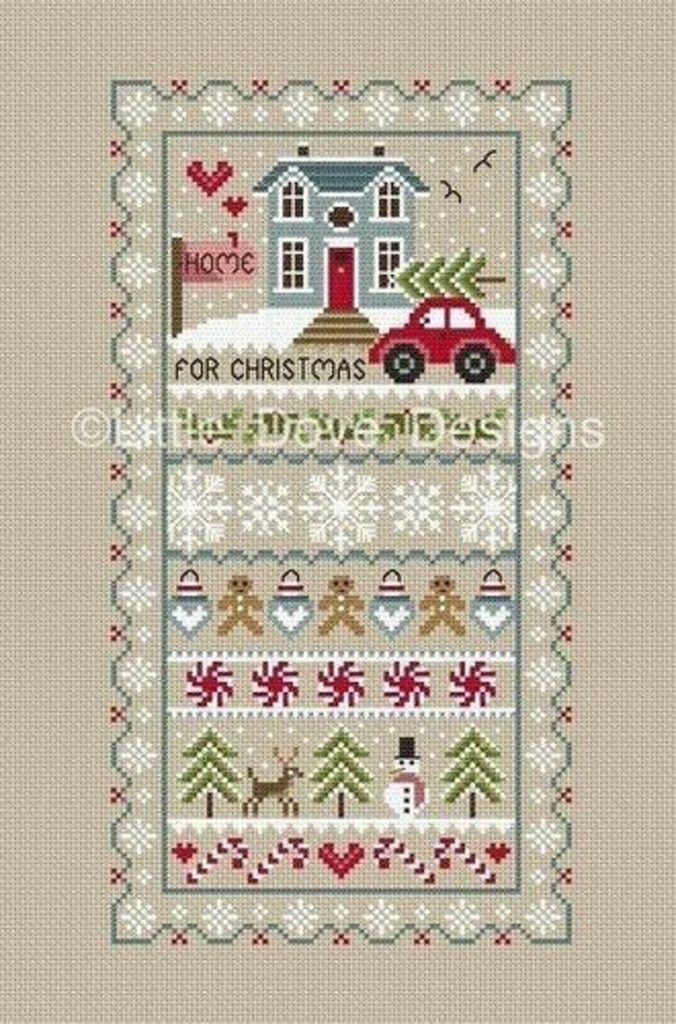 Little Dove Designs ~ HOME FOR CHRISTMAS Cross Stitch Pattern