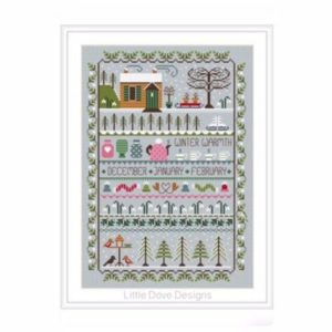 Little Dove Designs ~WINTER WARMTH Cross Stitch Pattern