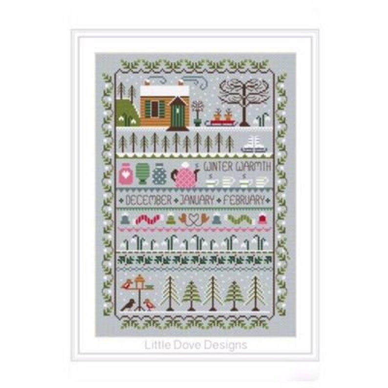 Little Dove Designs ~WINTER WARMTH Cross Stitch Pattern