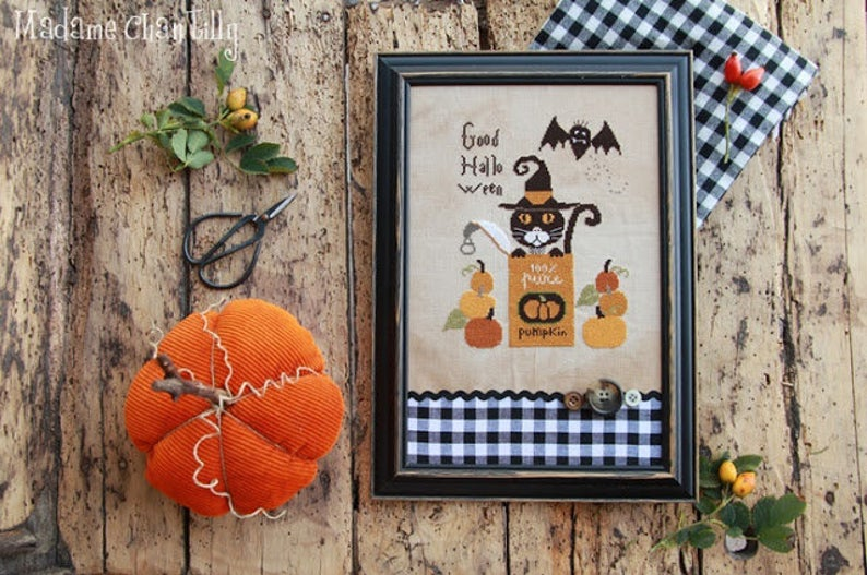 Madame Chantilly HALLOWEEN CAN Cross Stitch Pattern