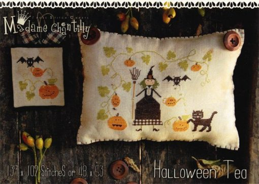 Madame Chantilly HALLOWEEN TEA Cross Stitch Pattern
