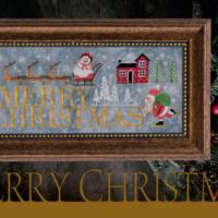 Cottage Garden Samplings MERRY CHRISTMAS Cross Stitch Pattern