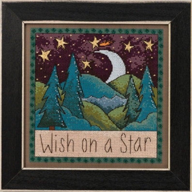 Mill Hill WISH ON a STAR Cross Stitch Kit - Mill Hill Sticks Cross Stitch Kit
