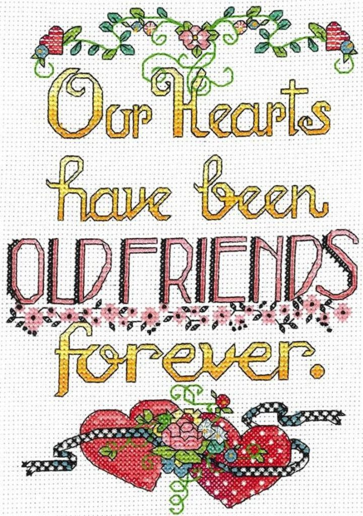 OLD FRIENDS FOREVER Cross Stitch Kit by Imaginating