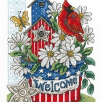 PATRIOTIC WELCOME Cross Stitch Kit by Imaginating