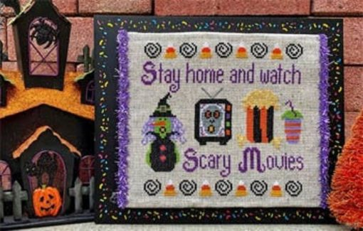 Pickle Barrel Designs SCARY MOVIES Cross Stitch Pattern