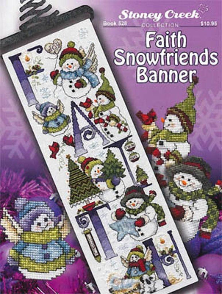 Stoney Creek FAITH SNOWFRIENDS BANNER Cross Stitch Pattern